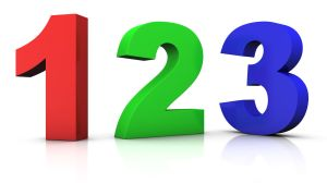 big red green and blue 3d numbers 123 - 3d rendering/illustration